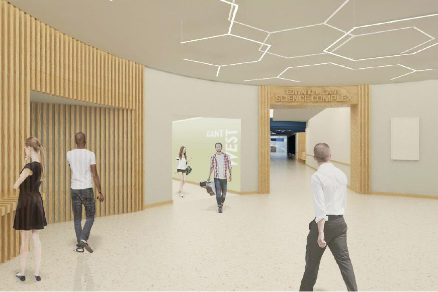 Artist's impression of the renovated Gant Southwest Corner Lobby.