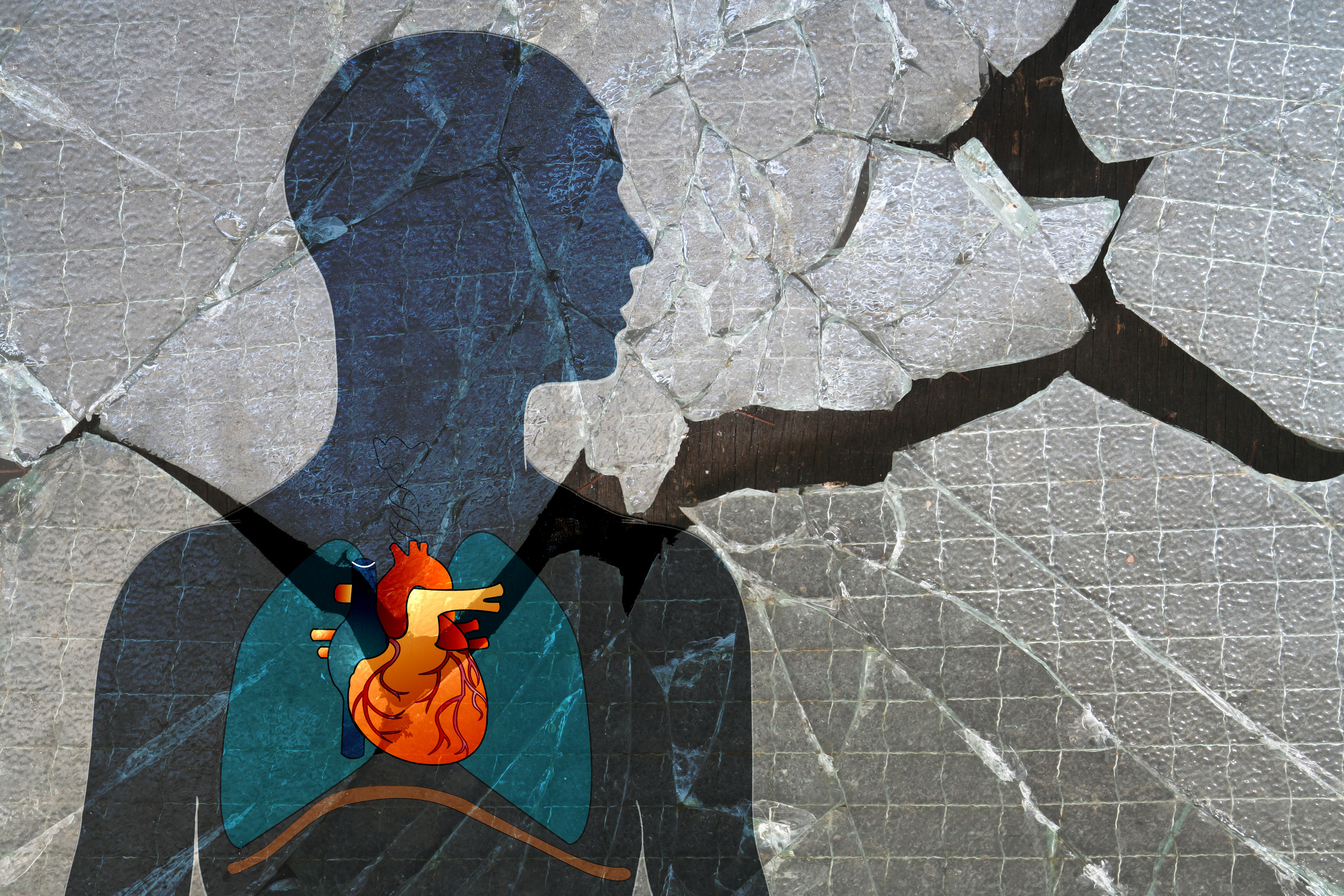 Conceptual image of a broken heart. (elusivemuse via Getty Images)