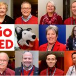 UConn Nation Goes Red for Women on National Wear Red Day across UConn and UConn Health.