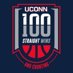 UConn 100 straight wins and counting graphic