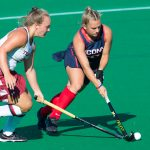 Amanda Collins '18, a standout on the UConn field hockey team, has been selected for the U-21 U.S. Women's National Team. (Stephen Slade '89 (SFA) for UConn)
