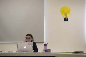 Students compete in Hackathon at NextGen Hall. (Sean Flynn/UConn Photo)