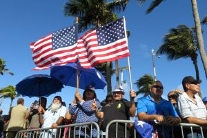 Pro-statehood supporters at the seaside Capitol in San Juan, Puerto Rico. (AP Photo/Danica Coto via The COnversation)