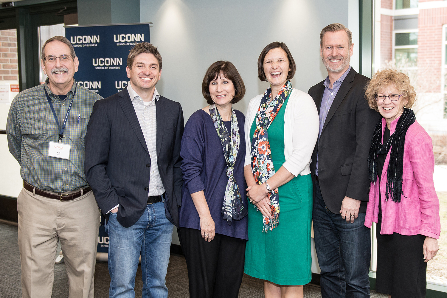 From left: Bill Ross, Remi Trudel, Jennifer Escalas, Karen Winterich, Mark Forehand, and Robin Coulter (Nathan Oldham/UConn photo)