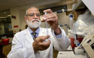 Dr. Pramod Srivastava, inventor of the ovarian cancer vaccine who directs the Neag Comprehensive Cancer Center at UConn Health (UConn Health/Janine Gelineau).
