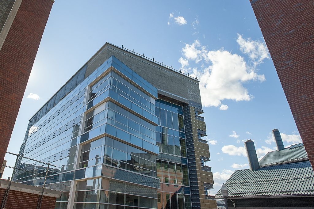 The Engineering and Science Building will open in the fall, with researchers moving in during the summer. (Sean Flynn/UConn Photo)