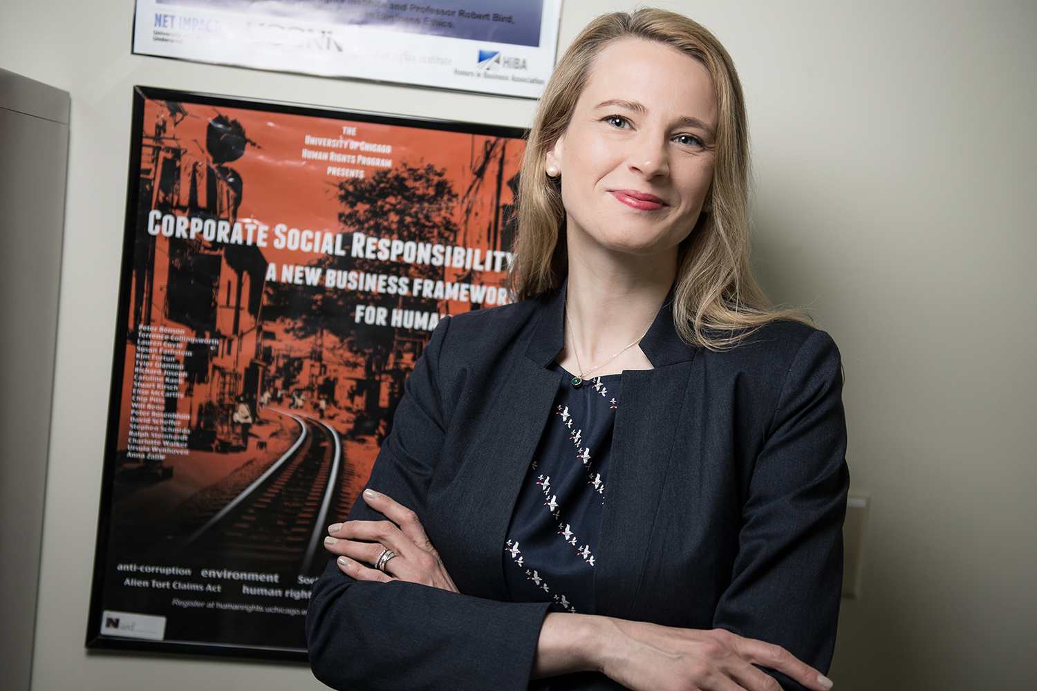 Caroline Kaeb is an Assistant Professor of Business Law and Human Rights at the UConn School of Business, where she holds a joint appointment with the Human Rights Institute and a courtesy appointment with the School of Law. (Nathan Oldham/UConn photo)