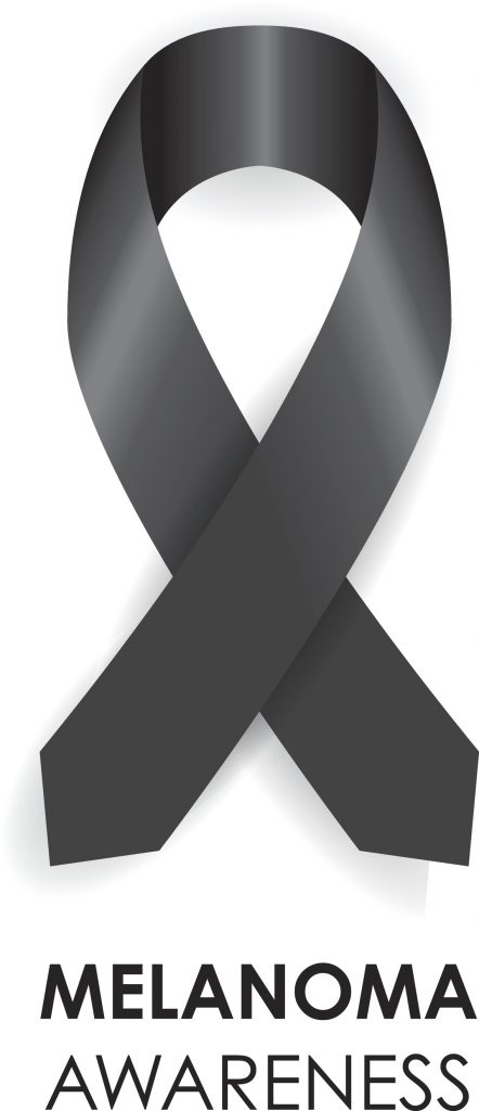 Melanoma ribbon. May is Melanoma Awareness Month. (Getty Images)