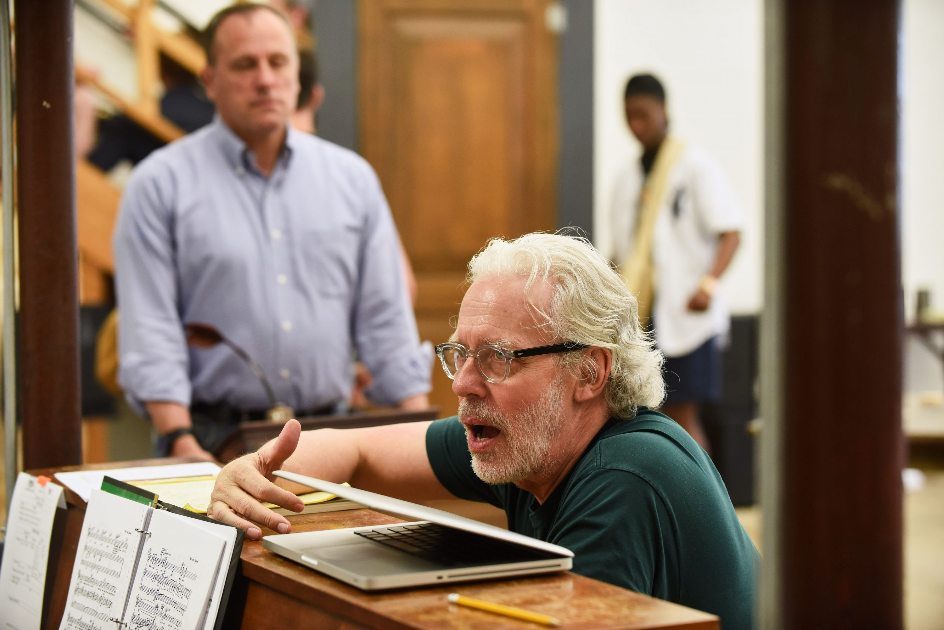 Terrence Mann, artistic director of the Connecticut Repertory Theatre's Nutmeg Summer Series, will oversee three musicals for CRT this year, directing one, Jesus Christ Superstar, and playing the lead in Sweeney Todd. (Peter Morenus/UConn File Photo)