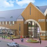 The exterior of the renovated UConn Bookstore on Hillside Road. (Rendering by Barnes & Noble College)