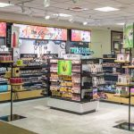 """The renovated UConn Bookstore will include """"the Glossary,"""" an area focused on skin care and beauty products popular with college-age students, similar to this one at William & Mary. (Rendering by Barnes & Noble College)"""