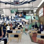 The interior of the renovated UConn Bookstore on Hillside Road. (Rendering by Barnes & Noble College)