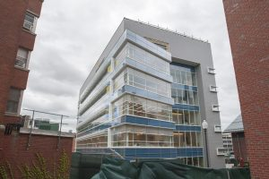 Construction of the Engineering building on May 15, 2017. (Sean Flynn/UConn Photo)