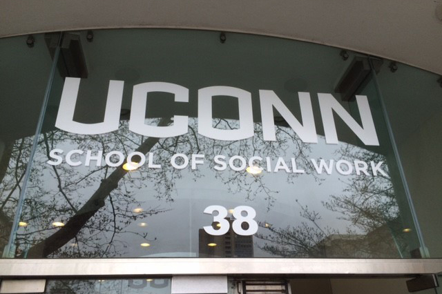 The School of Social Work's new building at 38 Prospect Street in Hartford on July 12, 2016. (Peter Morenus/UConn Photo)