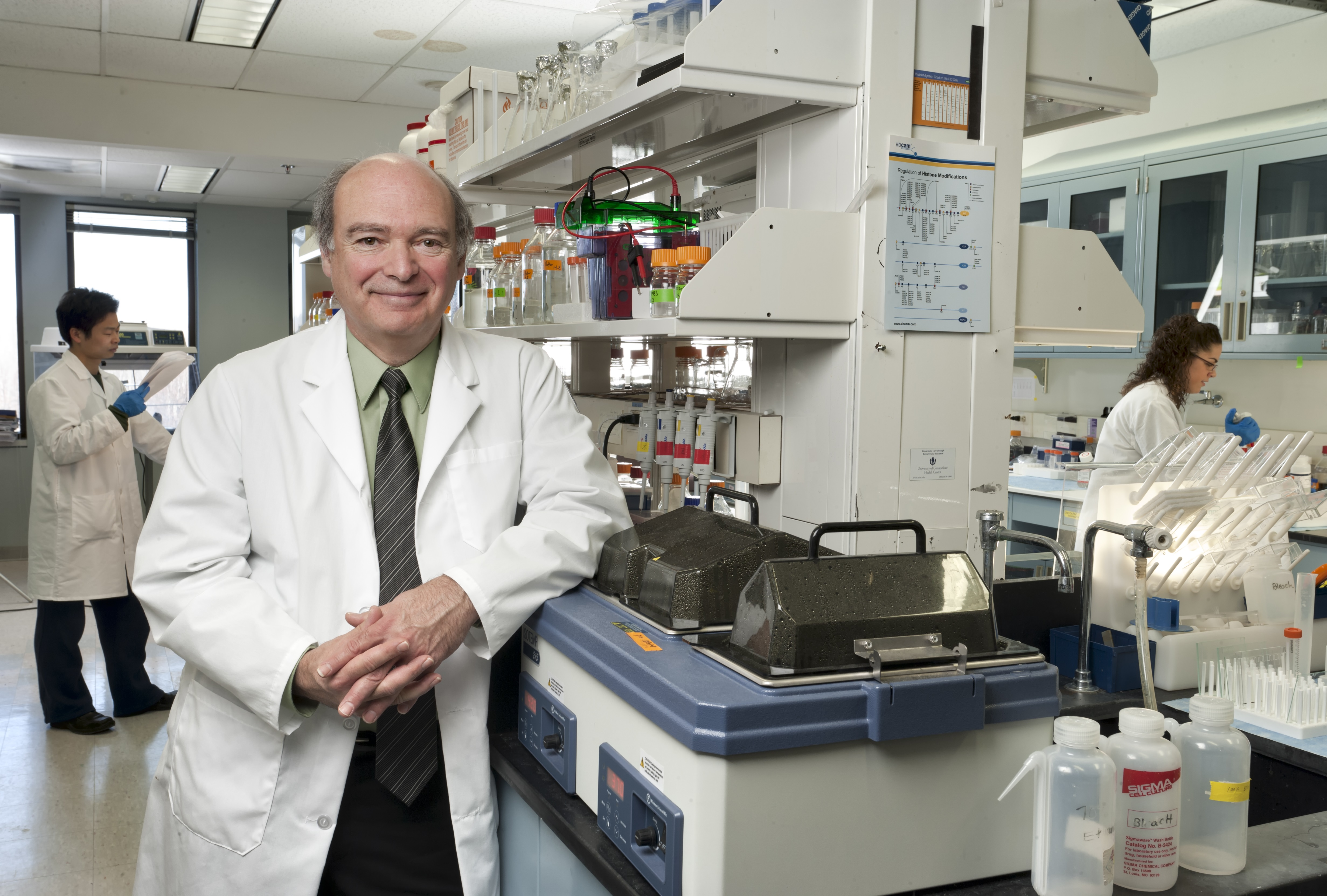 Dr. Marc Lalande, founding chairman of the Department of Genetics and Genome Sciences. (Lanny Nagler for UConn Health).