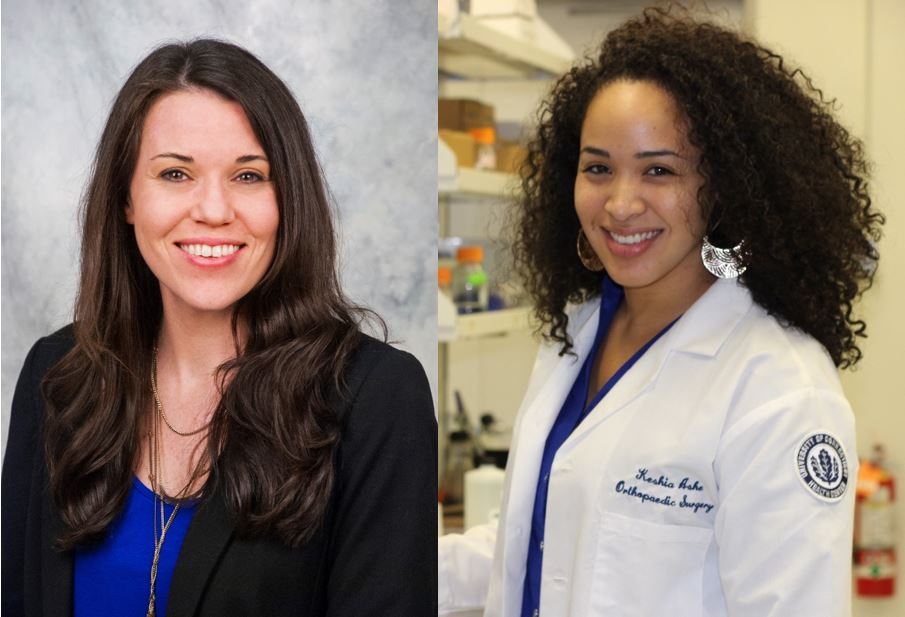 Two former graduate students of UConn School of Medicine, Megan B. Miller, Ph.D. and Keshia Ashe, have been awarded AAAS Science & Technology Policy Fellowships (STPF). q