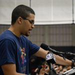 "Sophomore Jonathan Reyes said ""UConn has given me and many other students the opportunity to change our lives for the better. ... We will lose a large part of our community if we do nothing"" about the budget. (Bret Eckhardt/UConn Photo)"