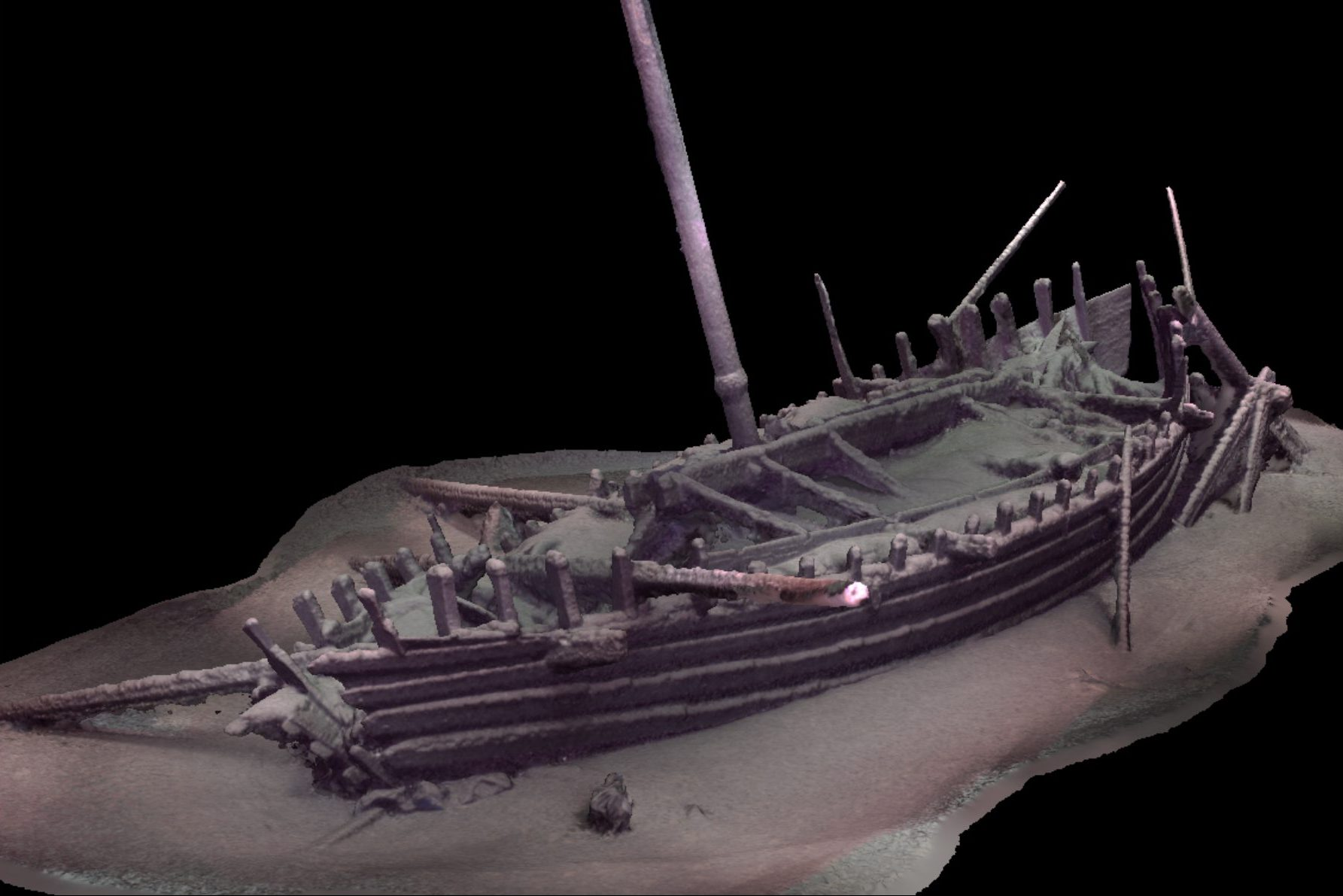 A 3-D re-creation of a Roman ship found on the floor of the Black Sea. (Black Sea MAP)