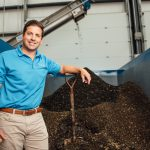UConn alumnus Brian Paganini '03 (BUS) designed and runs 'Quantum Biopower,' Connecticut's first food waste-to-energy facility. (Nathan Oldham/UConn Photo)