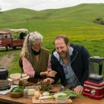 During a July episode of 'Scraps,' Gamoran and longtime friend Sally Hiebert foraged along Sonoma, California, roadsides to prepare a found feast for locals there.