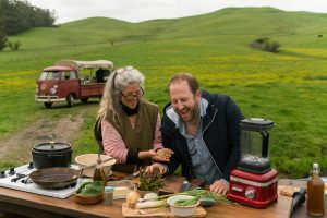 During a July episode of 'Scraps,' Gamoran and longtime friend Sally Hiebert foraged along Sonoma, California roadsides to prepare a found feast for locals there.