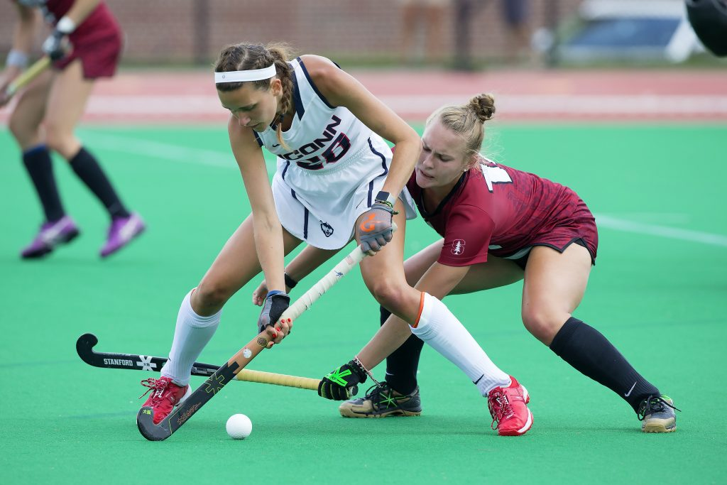Charlotte Veitner during a game against Stanford. (UConn Athletic Communications Photo)