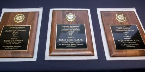 Plaques were presented at the 2017 Awards Banquet and Alumni Reunion.B