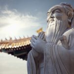 Sculpture of the Chinese philosopher Confucius. (Getty Images)