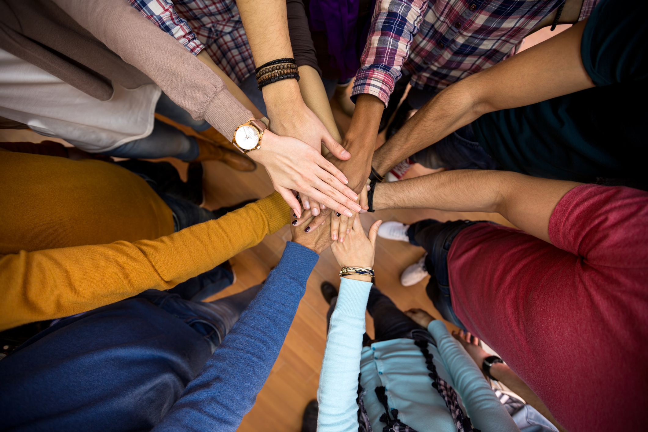 All hands together, united for racial equality. (Getty Image)