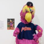 Slider, the mascot of the Cleveland Indians. (Peter Morenus/UConn Photo)