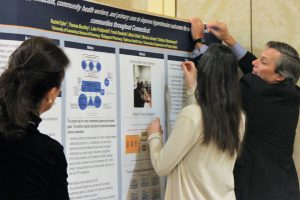 PRISM poster session. (Sheila Foran/UConn Photo)
