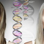 Close up of women and DNA helixes. (Getty Images)