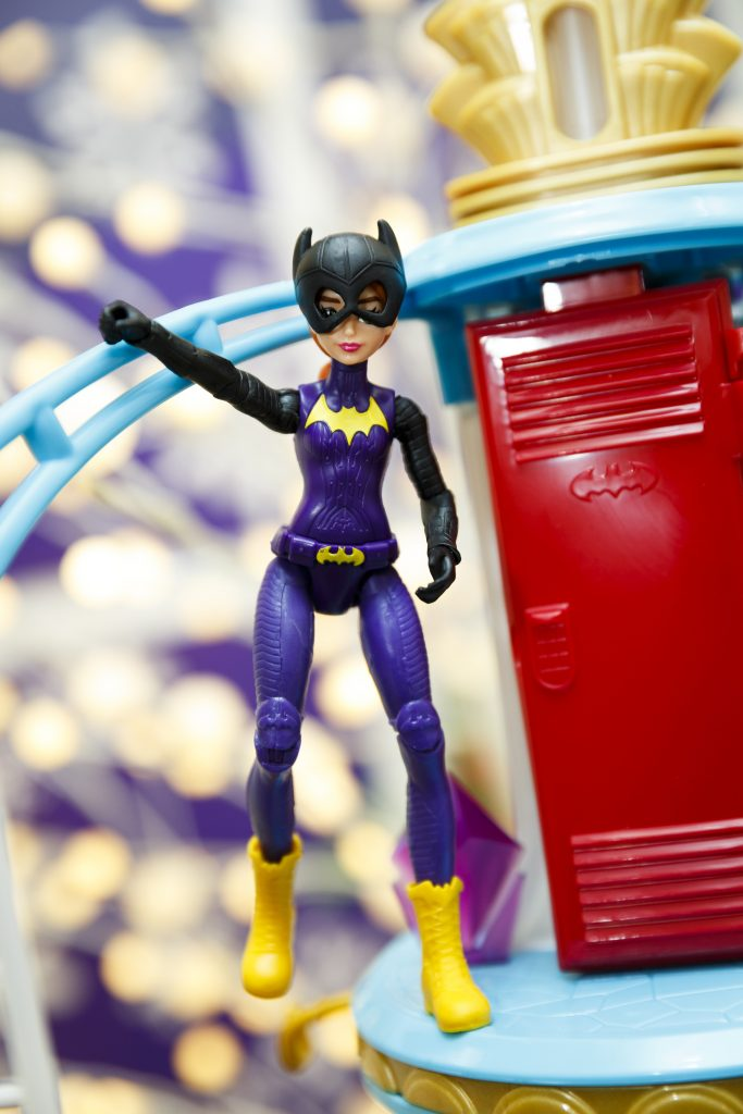 Batgirl from Mattel's DC Super Hero Girls line. The appearance and dress of the new generation of fashion doll characters is a departure from Barbie's idealized image. (Photo by Tristan Fewings/Getty Images)