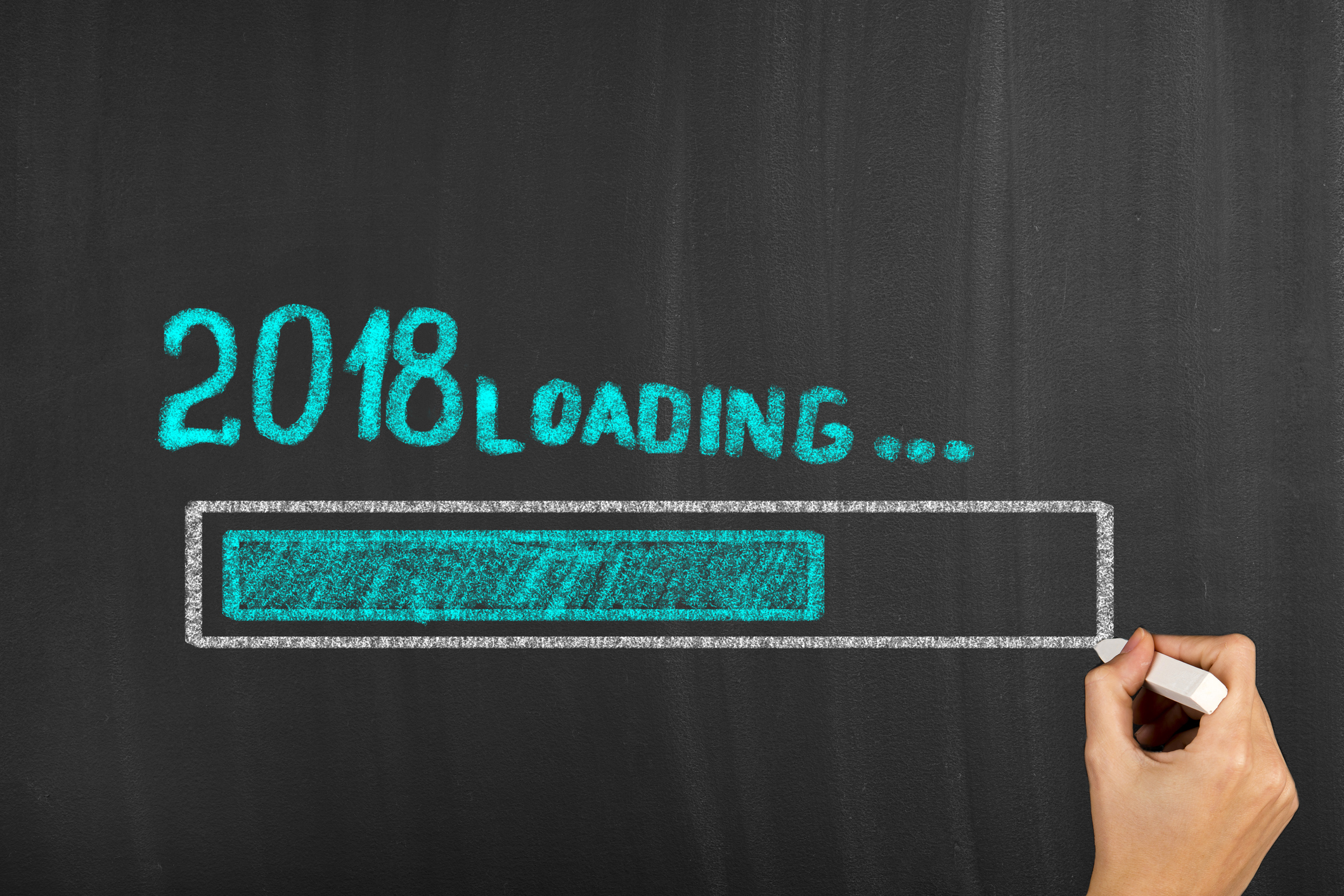 Progress bar showing loading of the new year 2018. (Getty Images)