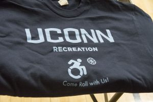 A wheelchair basketball t-shirt. (Garrett Spahn '18 (CLAS)/UConn Photo)