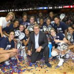 The team that clinched the 1,000th win for Geno Auriemma and Chris Dailey.