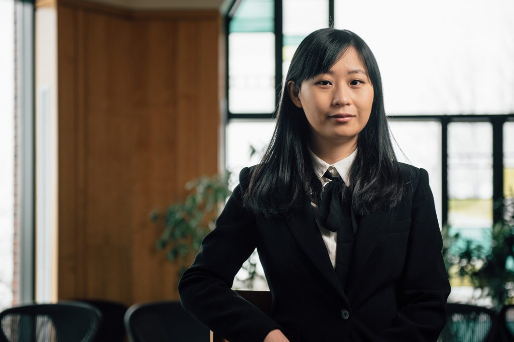 Shu He, assistant professor of Operations and Information Management in the School of Business. (Nathan Oldham/UConn Photo)