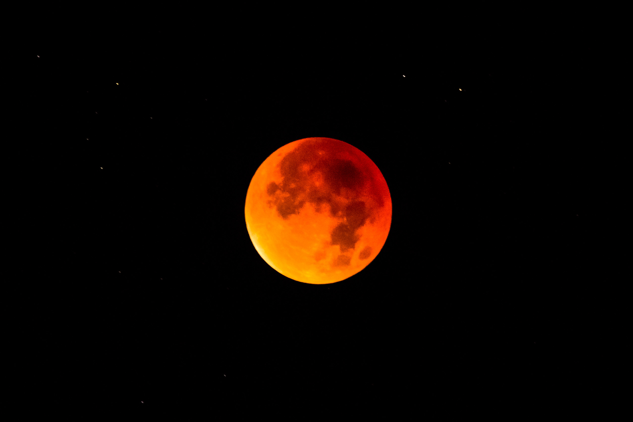 Blood moon during a lunar eclipse. (Shutterstock Photo)