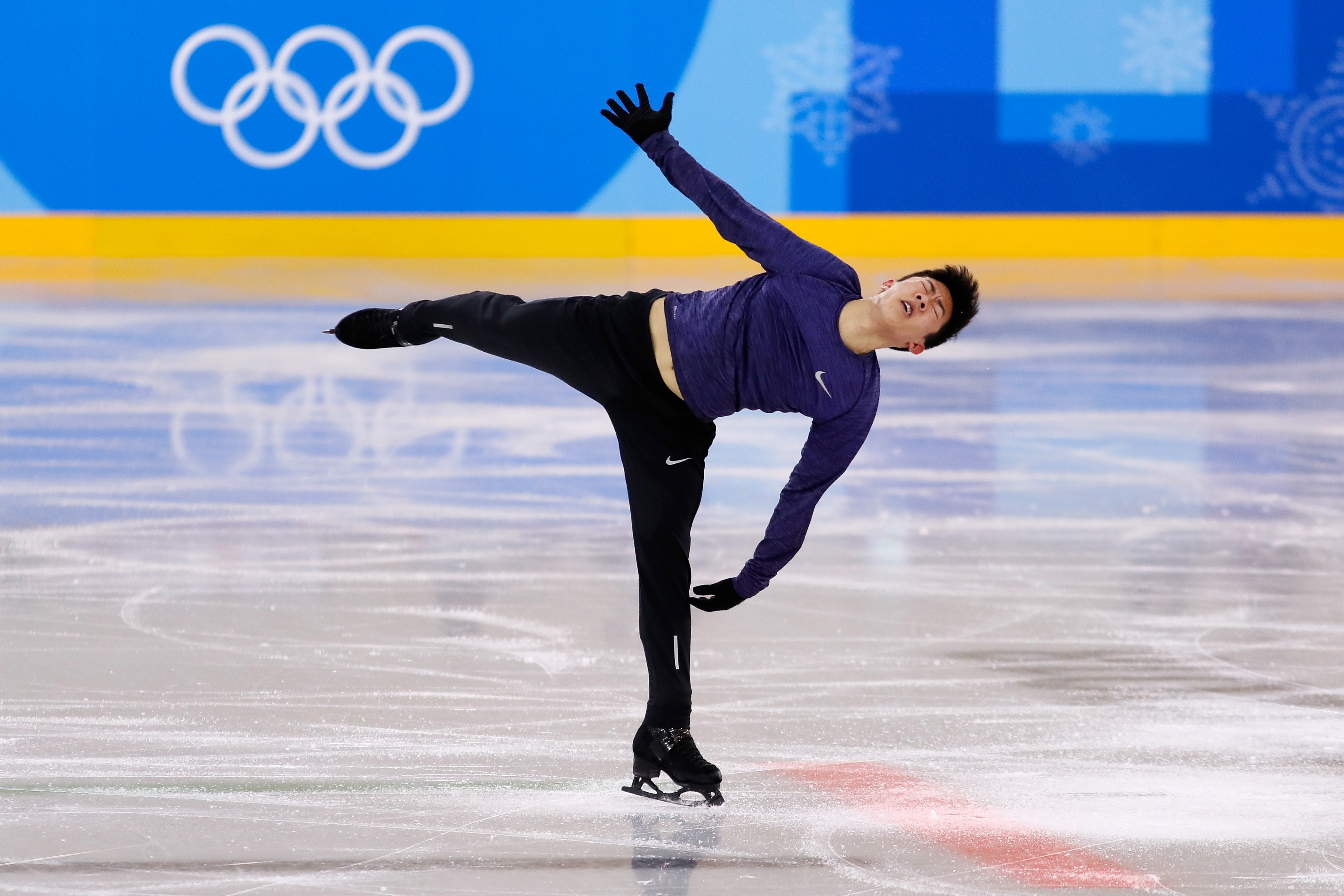 Nathan Chen of the United States trains during figure skating practice ahead of the Pyeongchang 2018 Winter Olympic Games in South Korea. (Jamie Squire/Getty Images)