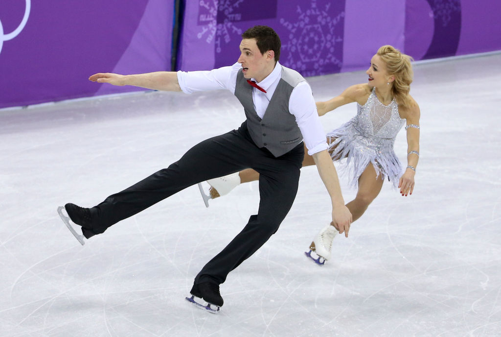 Alijona Savchenko and Bruno Massot of Germany during the Figure Skating Pairs Skating Short Program on day five of the PyeongChang 2018 Winter Olympic Games at Gangneung Ice Arena on February 14, 2018 in Gangneung, South Korea. (Photo by Jean Catuffe/Getty Images)