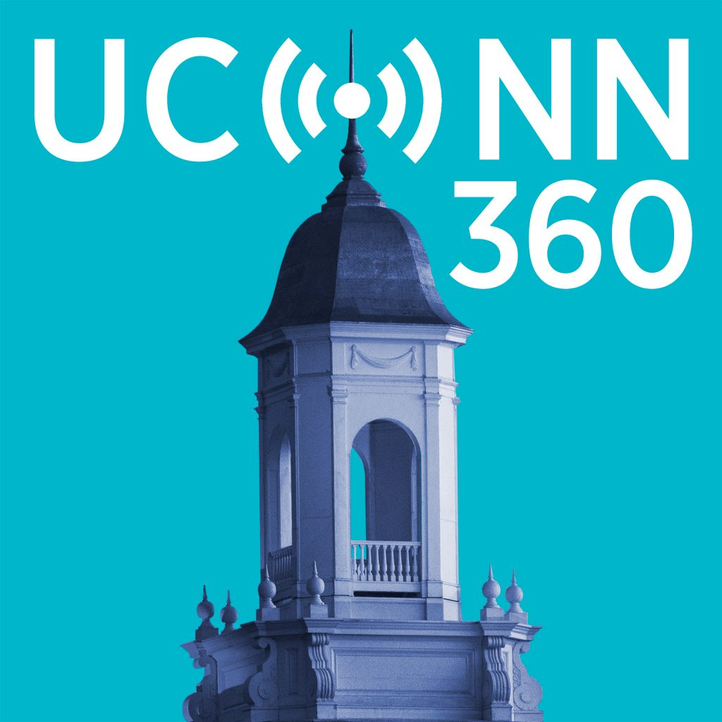 UConn 360 podcasts logo.