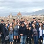 Chamber Singers on the hill above Florence. (Grace Carver/UConn Photo)