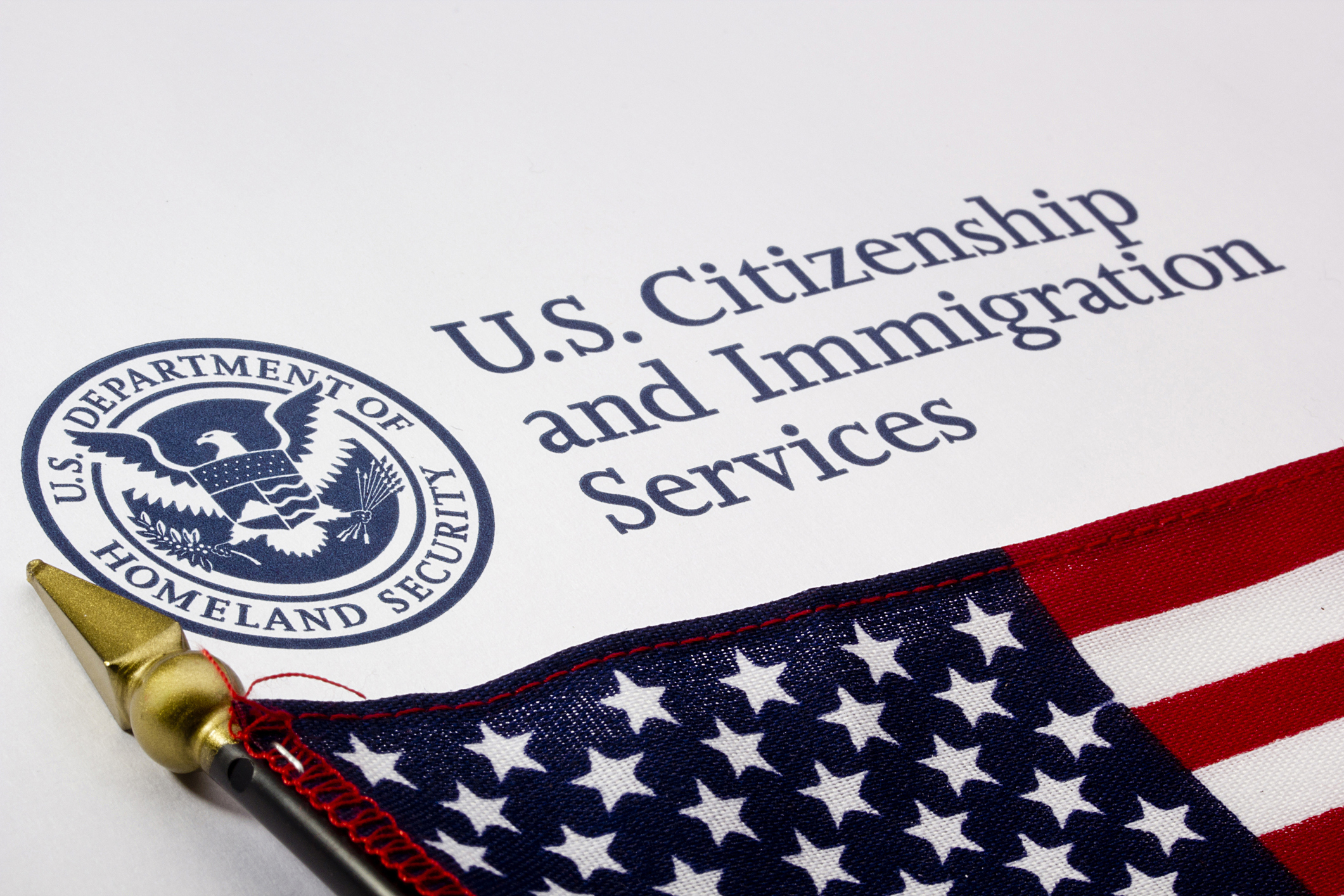 Photograph of a U.S. Department of Homeland Security logo. (VIPDesignUSA/iStock/Getty Images Plus)