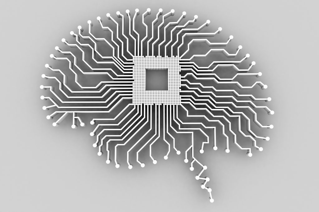 A brain-shaped printed circuit board. (Alfred Pasieka,/Science Photo Library via Getty Images)