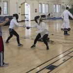 The UConn Fencing Club practices at the Willis Nichols Hawley Armory on March 4. The club is open to both men and women, in any major. (Garrett Spahn '18 (CLAS)/UConn Photo)