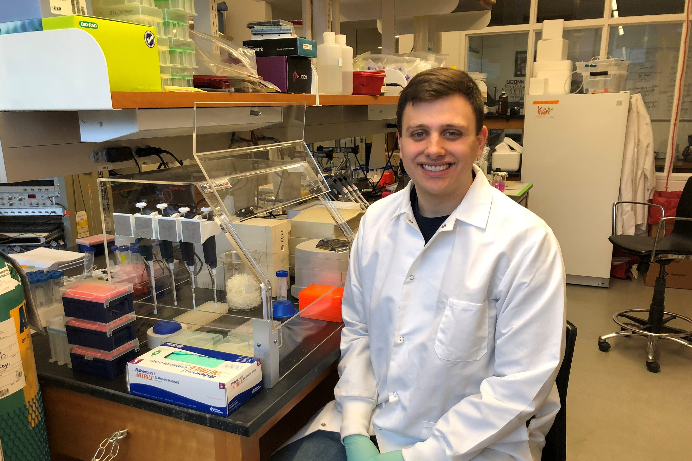 Colin Cleary, a first year doctoral student in UConn's Department of Physiology and Neurobiology (PNB) (Photo provided by Colin Cleary).