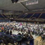 The School of Engineering's Senior Design Demonstration Day at Gampel Pavilion on  April 27, 2018. (Garrett Spahn '18 (CLAS)/UConn Photo)