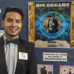 Julian Yuliawan, a senior individualized major studying music entrepreneurship, displays his project, which incorporate original pieces of music in a collective project titled 'Big Dreams.' (Garrett Spahn '18 (CLAS)/UConn Photo)