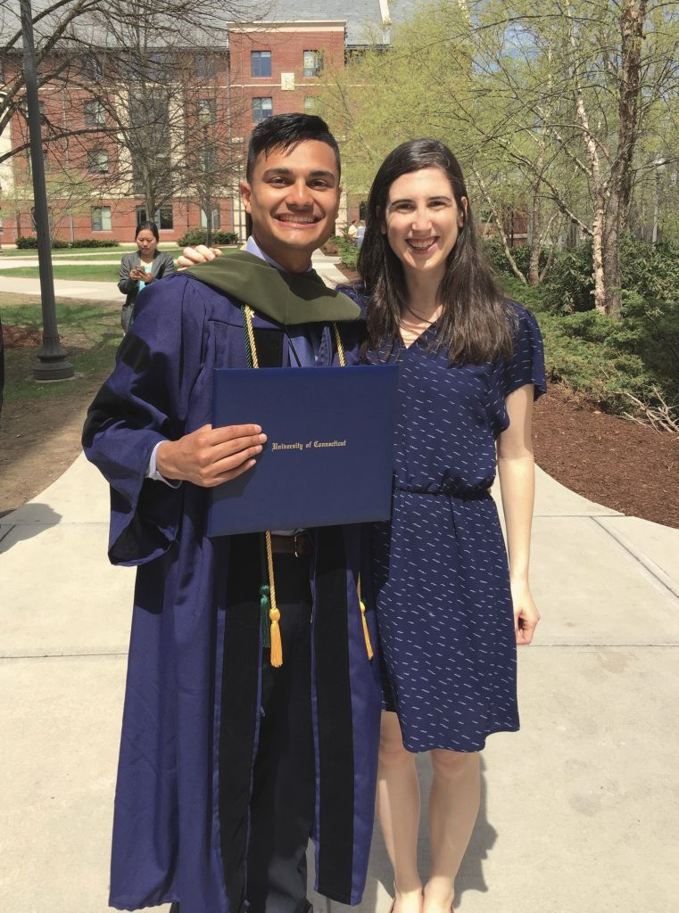 Rachel Eyler with 2018 Pharm.D. graduate Jit Sheth