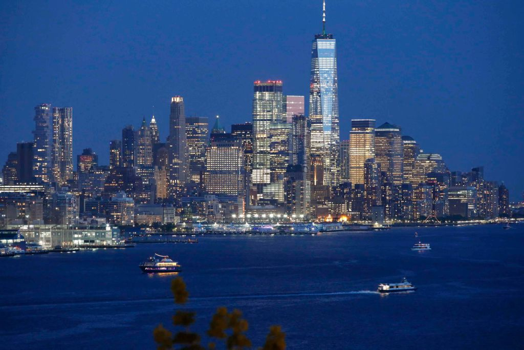 The skyline of lower Manhattan in New York City seen on May 9, 2018 from Weehawken, New Jersey. (Photo by Kena Betancur/VIEWpress/Corbis via Getty Images)